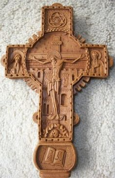 Romanian Orthodox Cross / Representation of Crucifixion  11cm x 29cm (4.33inches x 7.08inches)