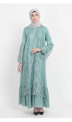 Dress Brokat Muslim, Dress Brokat Modern, Kebaya Modern Dress, Dress Pesta, Dress Brukat, Hijab Style Dress, Model Dress Batik, Batik Dress, Muslim Fashion