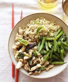 To make this Thai-inspired Basil Chile Chicken Stir-Fry a bit more spicy, leave the seeds in the chile.