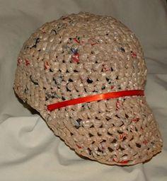 Plastic Bag Baseball Cap - CROCHET