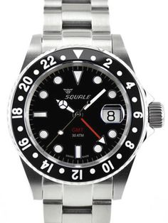 Squale 1545CG-CER Swiss Automatic GMT Dive Watch. Very nice looking watch.