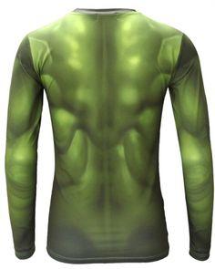 mens incredible hulk costume t shirt avengers age of ultron long sleeve shirt