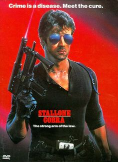Directed by George P. Cosmatos.  With Sylvester Stallone, Brigitte Nielsen, Reni Santoni, Andrew Robinson. A tough-on-crime street cop must protect the only surviving witness to a strange murderous cult with far reaching plans.