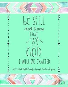 Image result for be still and know that i am god sher pai