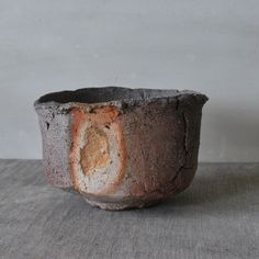 Mitch Iburg, Tea Bowl with Scar, Wood Fired Native Clay, 2012