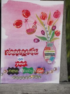 welcome new baby girl card by Chique Lixo