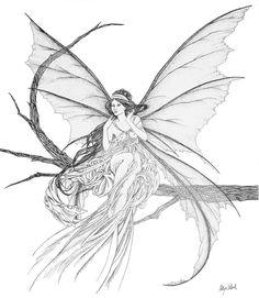 mucha art lily fairy - Google Search