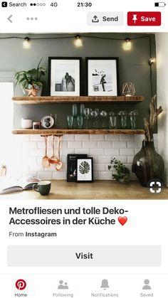 Shelfie, Kitchen Reno, Country Kitchen, Home Kitchens, Floating Shelves, Kitchen Inspiration, House, Home Decor, Decorations