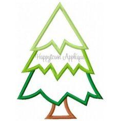 Camping Tree Applique Design