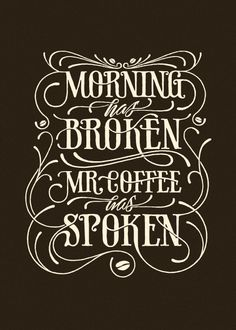 Coffee made me do it… some really cool typography stuff!