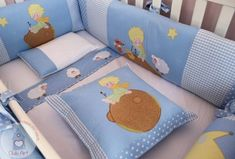 Kit Berço - Pequeno Principe 12 peças Kit Bebe, Baby Kit, Baby Sewing Projects, Baby Bedding Sets, Baby Swings, Homemade Baby, Baby Boy Fashion, Baby Crafts, Baby Decor