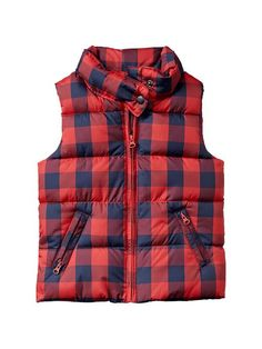 Warmest checkered puffer vest Product Image