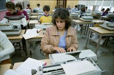 Typing Class--this is more current than the typewriters we used--those timed tests almost did me in