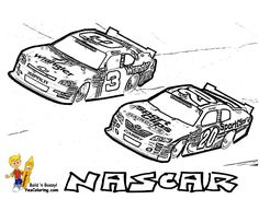 Great Nascar Coloring Pages 85 Precede Each Race Car