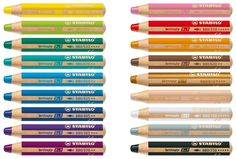 Stabilo Woody Crayons Set