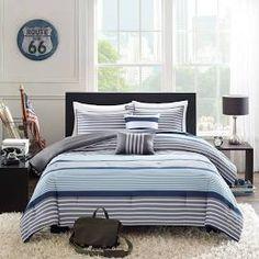Intelligent Design Matteo 5-Piece Comforter Set (Full/Queen-Blue ...