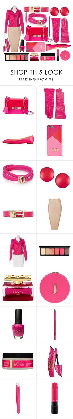 """""""Pink Lady Revival"""" by jazzola-19 ❤ liked on Polyvore featuring Moschino, Saks Fifth Avenue Collection, Christian Louboutin, Salvatore Ferragamo, de Grisogono, Charles Jourdan, Dolce&Gabbana, IRO, Miss Selfridge and NYX"""