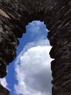 View from ancient church window at Glendalough.
