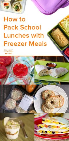 How to pack school lunches with freezer meals
