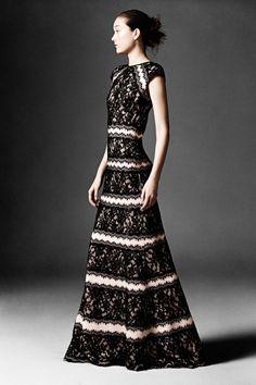 Tadashi Shoji | Pre-Fall 2014 Collection | Style.com #HauteCouture Tadashi Shoji, High Fashion, Fashion Show, Fashion Design, Women's Fashion, Lace Dress, Dress Up, Haute Couture Gowns, Black Wedding Dresses