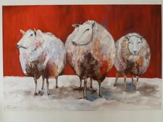 #art #painting #modern #schilderij #sheeps #schapen