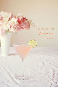 Cosmoploitan prosecco cocktail Mountainside Bride