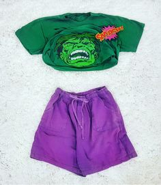 Thrift Store Cosplay Day 12 flat lay fashion blog post Avengers Bruce Banner