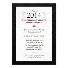 32 best graduation invitations formal images on pinterest formal black white red formal grad invite stopboris Images