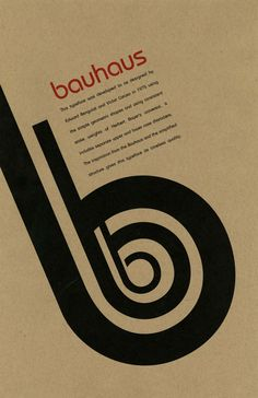 This Bauhaus poster is very simple yet bold. It kind of reminds me of my favorite art director, Fabien Baron because his work is somewhat similar to this.