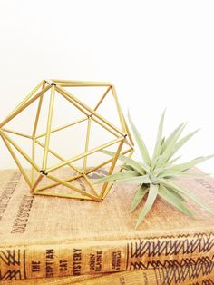 Listing is for ONE Geometric Ornament!  Airplant not included  Available in Brass , Copper or Aluminum      Geo Planter / 4 Tall x 4 Deep