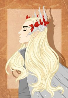 As soon as I had watched The Desolation of Smaug, I knew I had to draw the sassmaster of sass King Thranduil. He's so fricking gorgeous...