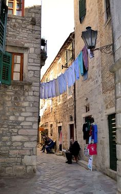 alley laundry.. Old Town of Kotor, Montenegro | by Rita1