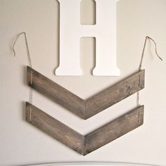 Hanging Chevron Arrows // Rustic Wall Arrows // by AtwoodAvenue