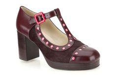 Orla Kiely, love the color! --> Womens Smart Shoes - Orla Dotty in Ox-Blood Leather from Clarks shoes