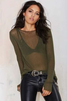 Asilio Stolen Knit Top - Olive - What's New