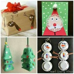 """Oh what Fun : 16 Easy Kids Christmas Crafts. Want to make """"Olaf"""" snowmen using this idea, also really like the thumbprint candy canes. Kids Crafts, Holiday Crafts For Kids, Preschool Christmas, Christmas Activities, Toddler Crafts, Christmas Holidays, Diy Xmas Presents, 242, Theme Noel"""