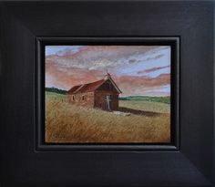 "Church Sunset in Northern New Mexico by Jane Shea 4.5"" x 6"" gauche Meyer Gallery"