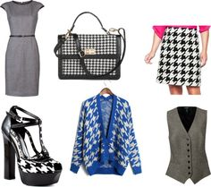 """""""Houndstooth Fever"""" by marwa84 on Polyvore"""