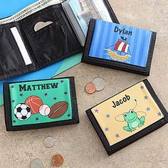 Personalized Wallets for Boys - Kids Designs - 7184 Cool Gifts For Kids, Kids Gifts, Craft Gifts, Personalized Gifts For Kids, Personalized Wallets, Wallets For Boys, Vintage Gifts, Teaching Kids, Kids Boys