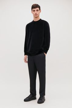 COS VELVET-JERSEY JUMPER. #cos #cloth