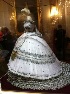 "Replica of Empress Elisabeth (""Sisi"") of Austria's wedding-eve dress"