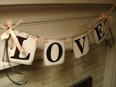 Love Banner/ Wedding Reception Decoration by anyoccasionbanners