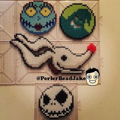 Nightmare before Christmas perler beads by perlerbeadjake