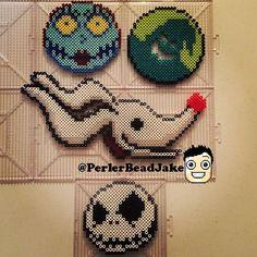 Nightmare before Christmas perler beads by perlerbeadjake