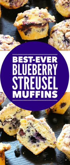 BEST-EVER Homemade Blueberry Muffins!!! Butter soft, tender, moist, and PACKED with flavor!