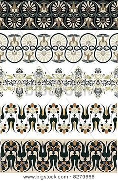 Illustration about Ancient Greek ornament set for design illustration. Ancient Greek Clothing, Ancient Greek Art, Ancient Greece, Greek Pattern, Pattern Art, Pattern Design, Textures Patterns, Print Patterns, Art Nouveau