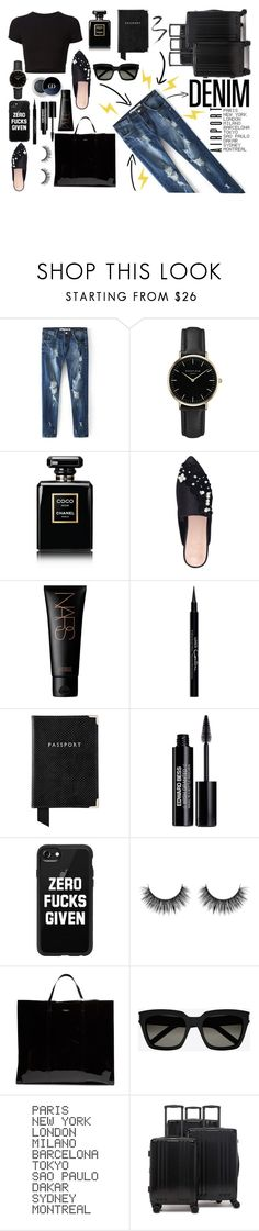 """."" by enu-india ❤ liked on Polyvore featuring Getting Back To Square One, ROSEFIELD, Chanel, KG Kurt Geiger, NARS Cosmetics, Givenchy, Aspinal of London, Edward Bess, Casetify and Balenciaga"