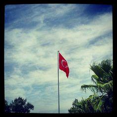 Turkish Pride. #2012 #flag #turkey #turkiye #blue #sky #izmir #photography #andrography