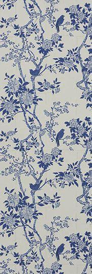 Ralph Lauren Home through Designer's Guild       Signature Century Club Wallpapers  Part Number      PRL048/05  name      Marlowe Floral - Porcelain