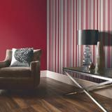 Sophia Red Stripe Wallpaper by Arthouse